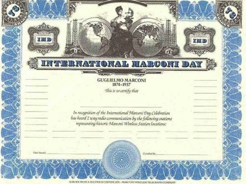 International Marconi Day Award 2019