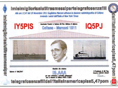 Diploma Coltano Marconi 1911