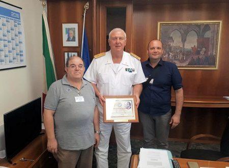La IY7M ricevuta dalla Capitaneria di Porto e Guardia Costiera di Bari