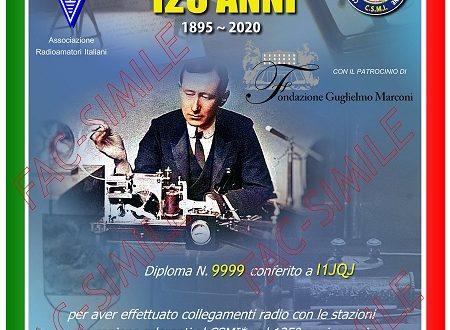 Diploma 125° anniversario dell'invenzione della Radio